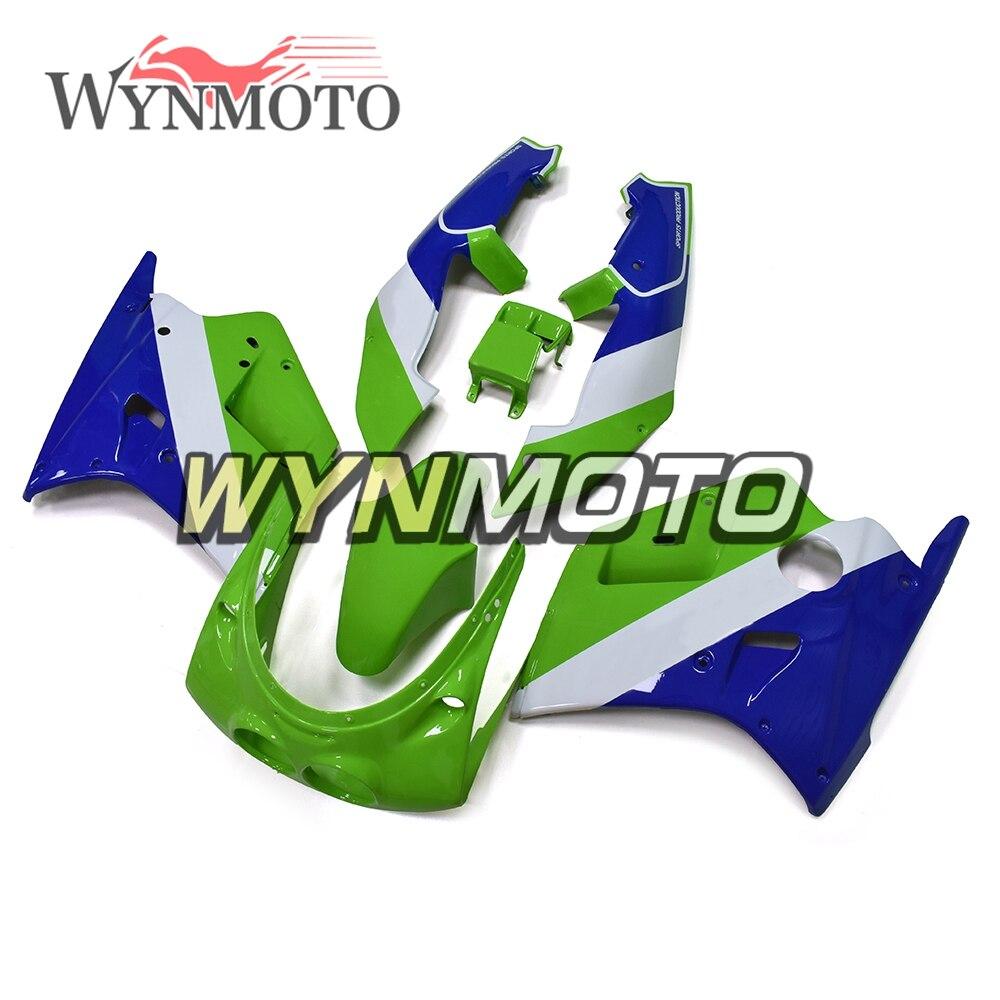 Complète Vert Bleu Carénages Pour Kawasaki ZXR250 1989 1990 89 90 Plastique ABS Carénage Carrosserie Cadre Moto Coques Couvre Nouveau
