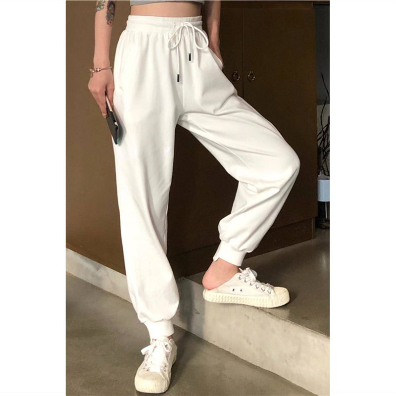 Casual  Womens Bottoms Pants Solid High Waist Hip Hop Pants Female Solid Joggers Trousers Japan Casual Streetwear Pants Girls