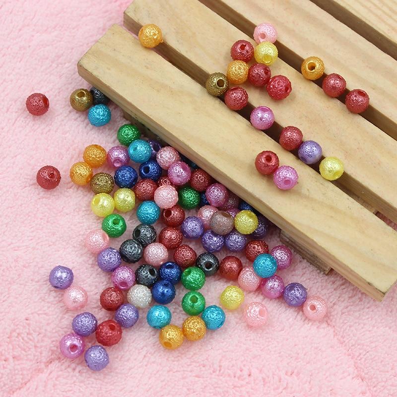 Одежда высшего качества 200 шт./лот 6 мм 7 цветов на выбор морщин вокруг Форма Spacer Бусины акриловые ювелирные изделия DIY