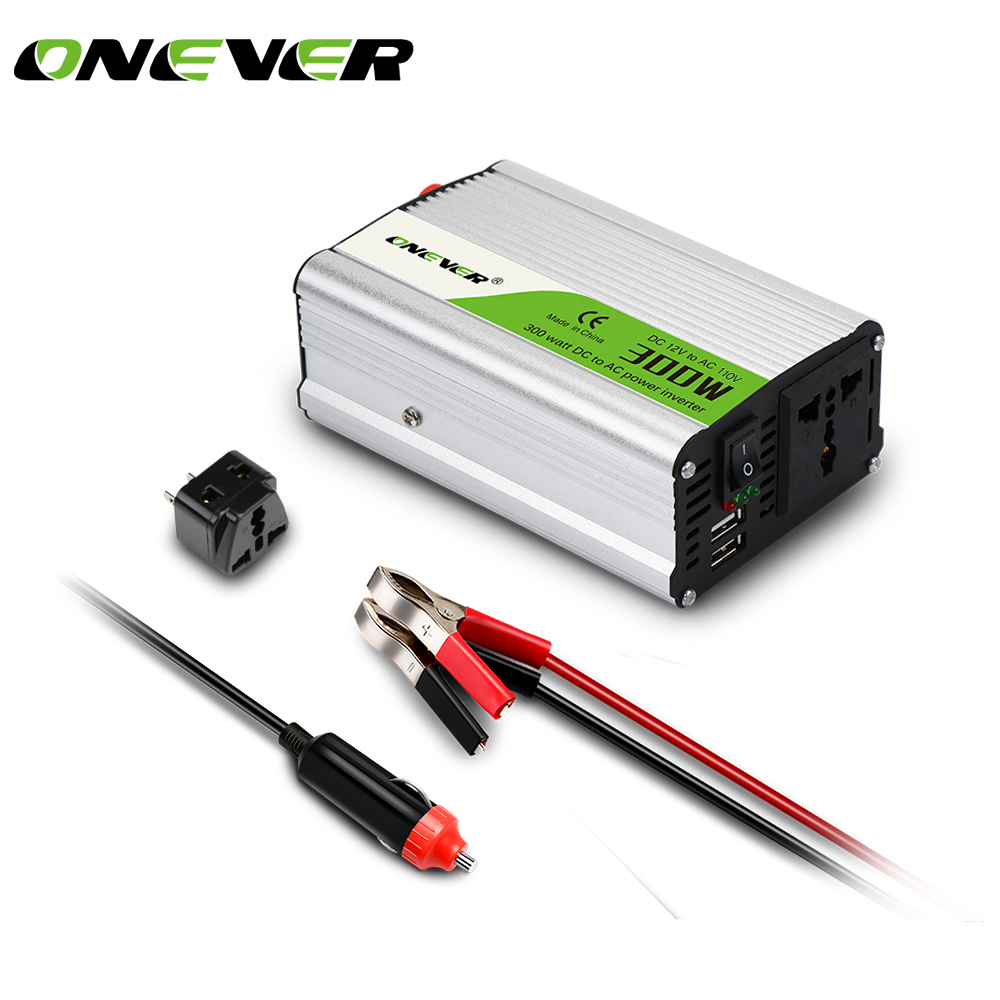 300w Car Power Inverter Converter Dc 12v To Ac 110v Modified Sine Wave Using Pic Microcontroller Dual Usb 5v Output Charger In Inverters From Automobiles Motorcycles