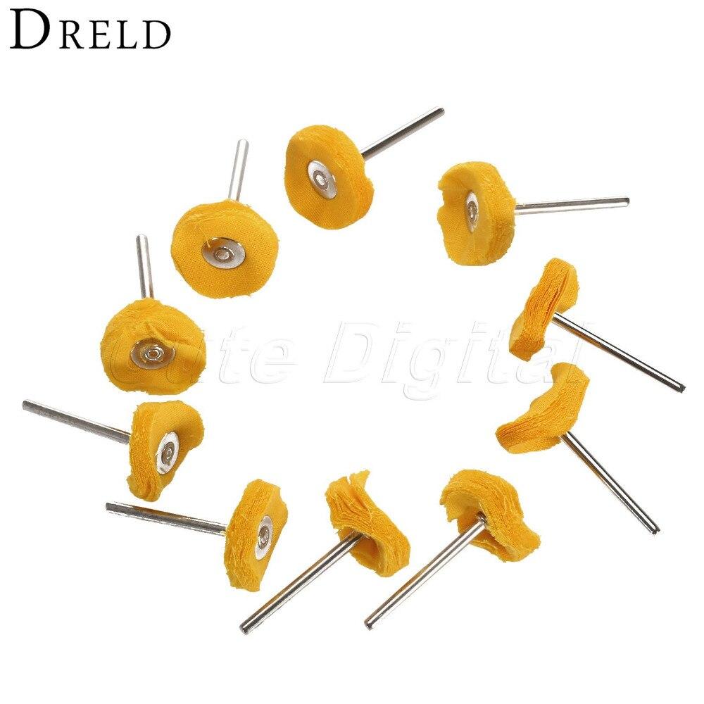 10Pcs Dremel Accessories 25x3mm Buffing Polishing Pad For Metal Cloth Sanding Deburring Wheel Pad For Rotary Tool Polishing Tool