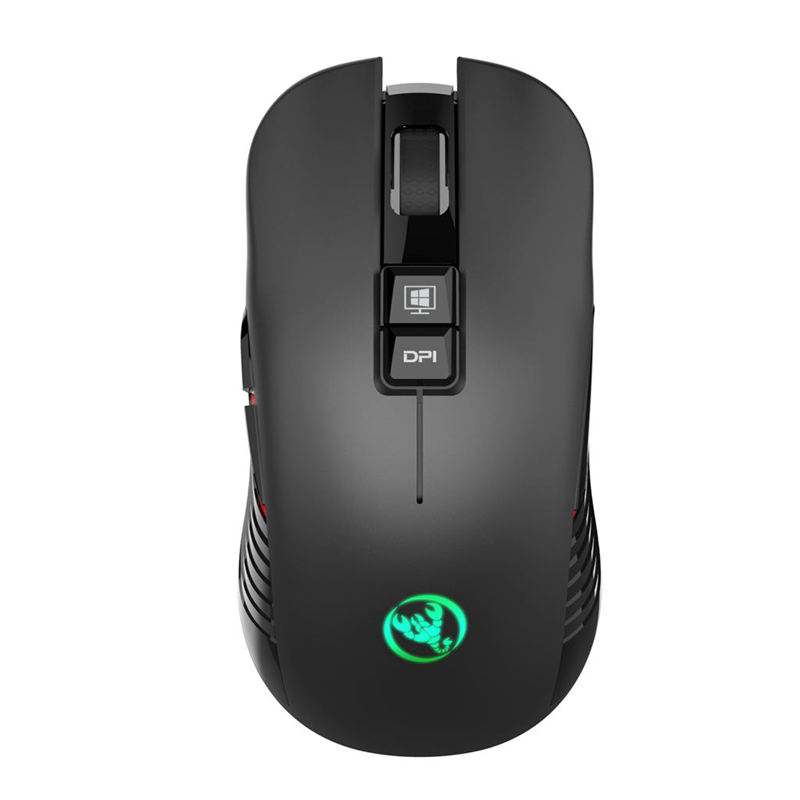 HOT-Hxsj T30 Wireless Gaming Mouse 3600dpi Rechargeable 7 Color Backlight Breathing Comfort Gamer Mice For Computer Desktop La