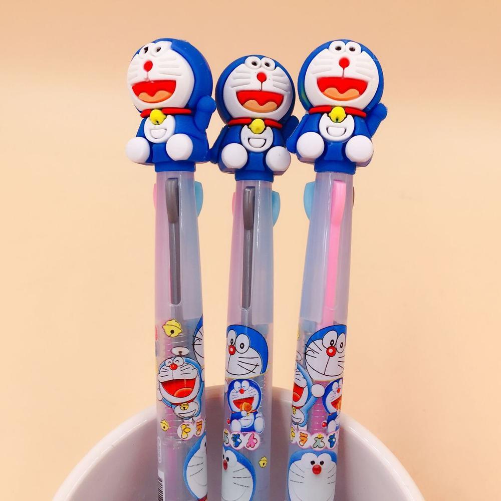 1 PCS 3 Colors Doraemon Ballpoint Pen Cartoon Animal Ball Pens Material Escolar Office School Writing Supplies