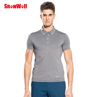 SNOWWOLF Outdoor Summer Men Short sleeve Quick dry UV Protection breathable Men solid male SNOWWOLF516 Polo T Shirt sw181