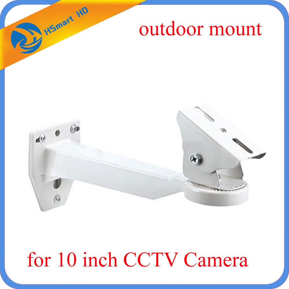 Camera Support 10 Security Camera Wall Mounting Bracket Arm for Outdoor CCTV Housing Mount owlcat indoor bullet cctv camera guard wall mount plastic housing shield with bracket for video surveillance security cameras