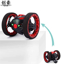 6PCS Remote Control Mini Cars Bounce Car 2.4GHz RC Car with Flexible Wheels Rotation Remote Control Robot Car Toys for Gift недорого