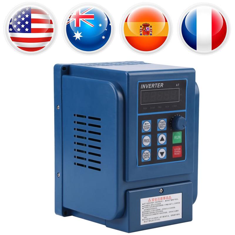 цена на AC 380V 1.5kW Variable Frequency Drive 3 Phase Speed Controller Inverter Motor VFD Digital Adjustable-Frequency Inverter Blue
