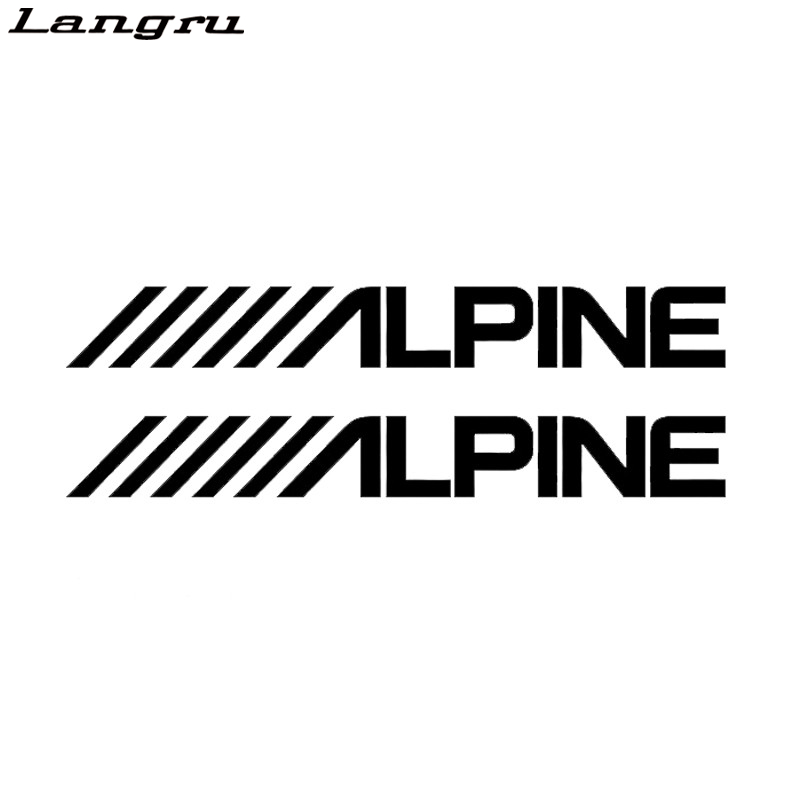 langru alpine car speakers stereo car styling amplifier sounds vinyl decal sticker car
