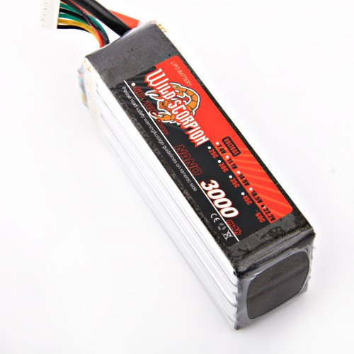 Wild Scorpion RC 22.2V 3000mAh 60C Li-polymer Battery RC Trex 500 helicopter +free shipping wild scorpion rc 18 5v 5500mah 35c li polymer lipo battery helicopter free shipping