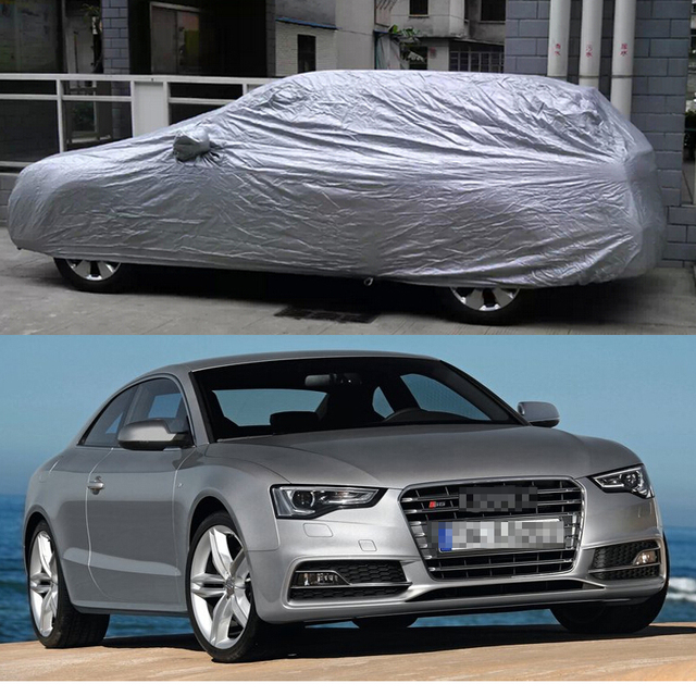 1Pcs Automotive Outdoor Car Cover Protector Cover Sun Shade Proof Dust for Audi S5