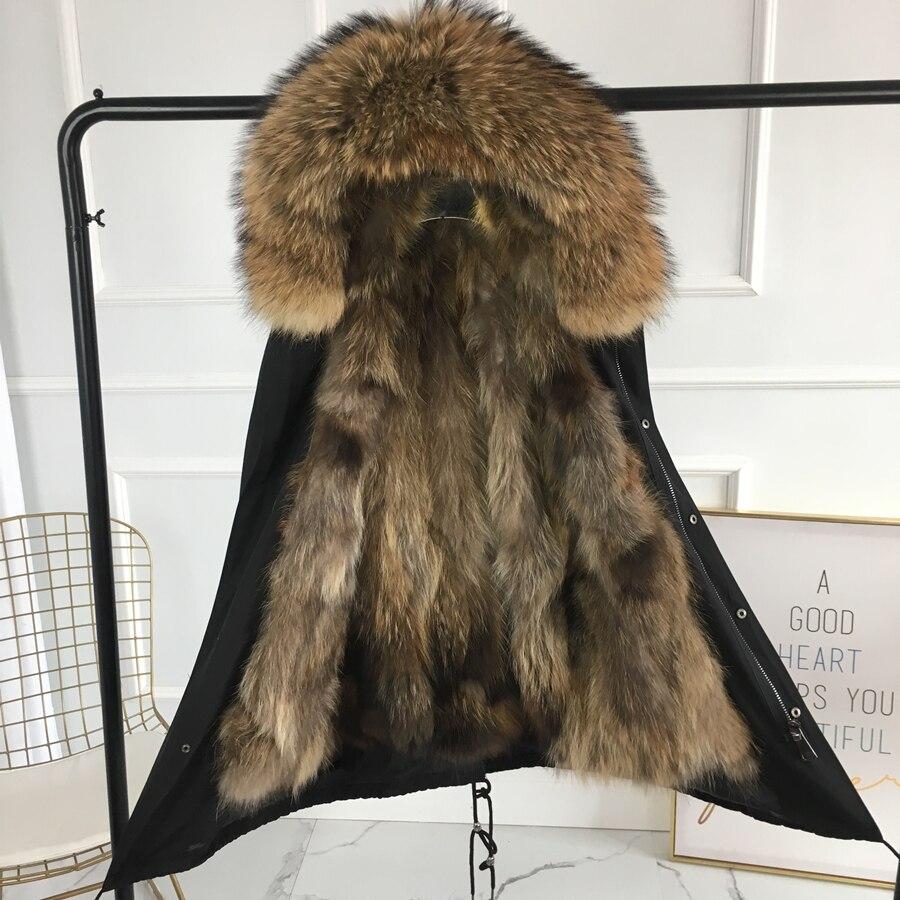 Nouvelle argent renard de fourrure parka manteau femmes tricoté argent renard de fourrure doublée parkas noir hiver épais manteau de fourrure véritable chaud femelle survêtement