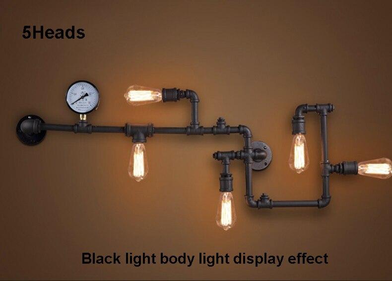 Loft lampade da parete industriale edison antico applique da