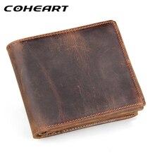 COHEART 100% genuine leather wallet men purses cowhide