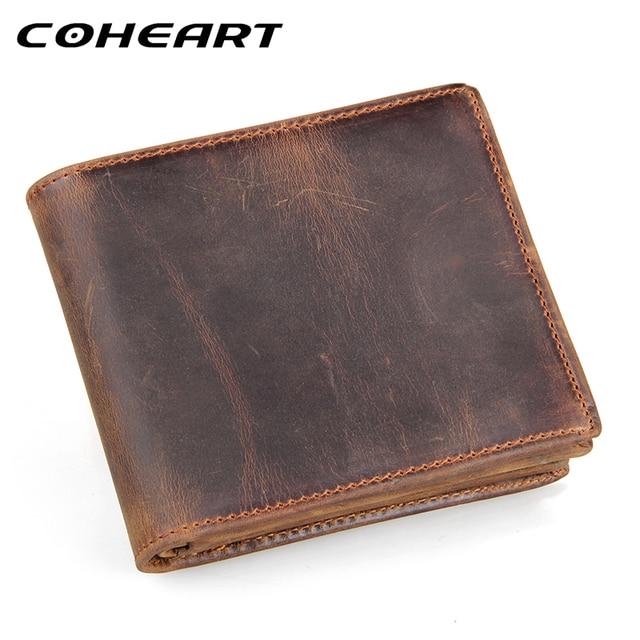 COHEART 100% jaminan kualitas kulit asli dompet pria dompet kulit sapi dompet  vintage lether dompet b3c2b5f548
