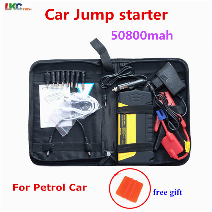 Qualité supérieure D'urgence Multifonction démarreur Voiture De Saut 50800 mah 12 V Portable Mini Moteur Booster de voiture batterie externe Chargeur d'appoint