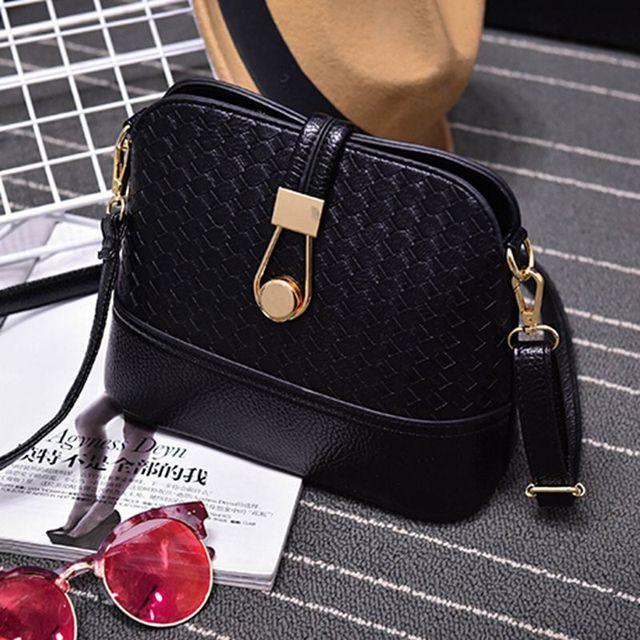 Women Sling Bags Weave shell Women Shoulder Bags Fashion Leather Sling Crossbady Bag messenger bag 2