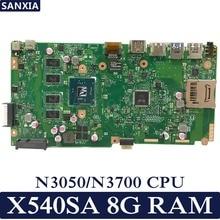 KEFU X540SA материнская плата для ноутбука ASUS VivoBook X540SA X540S X540 F540S Тесты оригинальная материнская плата 8G RAM N3700/N3060/N3050 Процессор