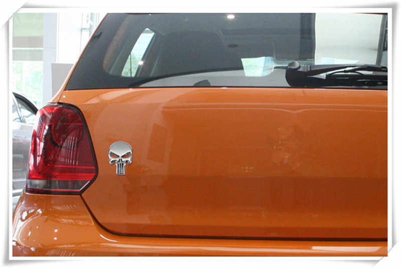 2018 new Car styling Teschio di metallo autoadesivo dell'automobile del cranio Distintivo per BMW e46 e90 e39 f30 f10 e36 e60 x5 e53 f20 e34 Accessori