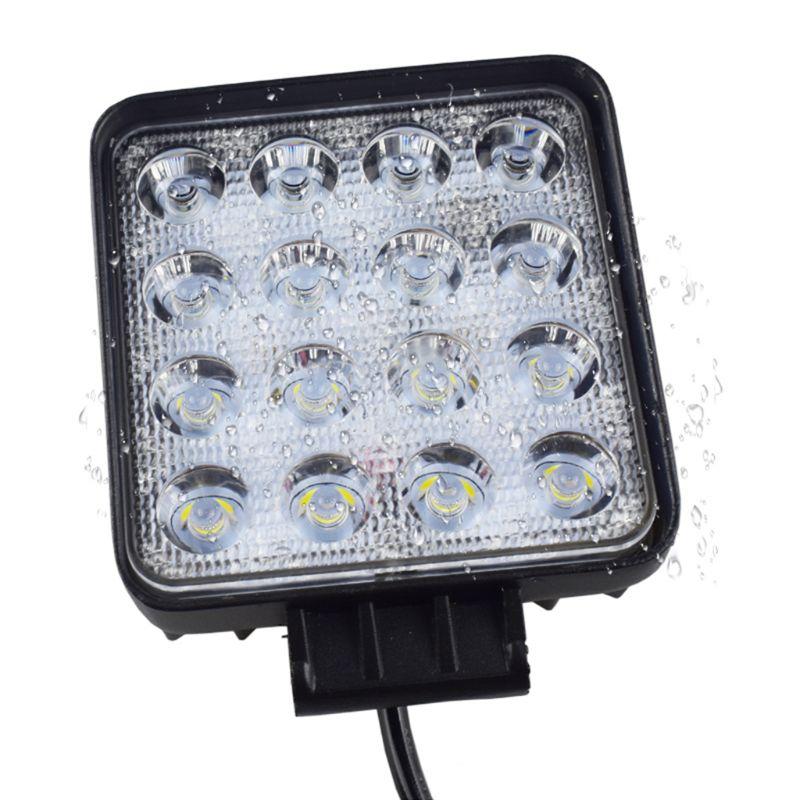 Машинка для стрижки 48 Вт Vehicel головной светильник s 16 светодиодный s холодный белый Светодиодный светильник бар 4 дюйма автомобиля светодиод...