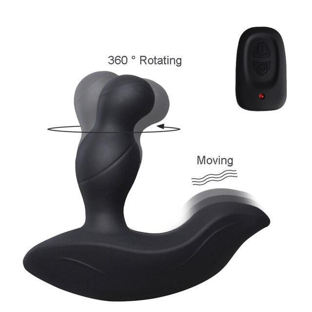 Levett rotación 360 grados rotación Levett cosquillas masculino próstata masajeador remoto Anal Dildos Anus Plug Prostata vibrador juguetes sexuales para hombres Gay b887bf