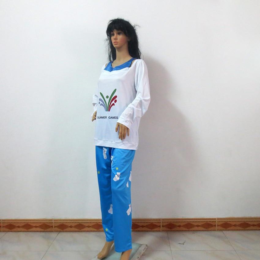 180668448c11 OW Kawaii Mei Summer Games Sweater CG Rise and Shine Cosplay Pajamas  Meiling Zhou Costume Mei Polar Bear Pants