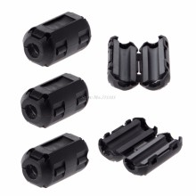 5 Pcs 5 millimetri Clip-On Clip di Anello di Ferrite Core Noise Suppressor Per EMI RFI Cavo Componenti Attivi Filtri(China)