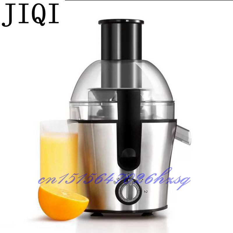 JIQI 300W Household Juicer Multifunctional fruit/vegetables juice machine stainless steel blades Two speed gears Mixing bear 220 v hand held electric blender multifunctional household grinding meat mincing juicer machine