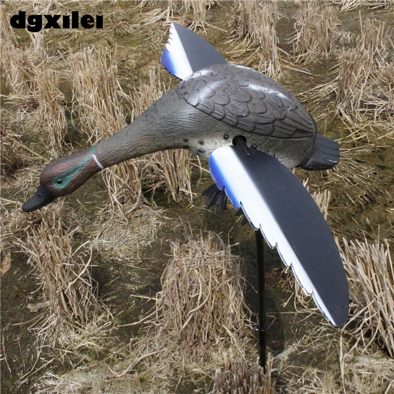 Turkey Hunting Wholesale 6V Motor Duck Decoy Plastic TEAL Duck Hunting Decoy Duck With Spinning Wings From Xilei xilei wholesale hunting bird decoy plastic motorized spinning wings motorized hunting duck decoy