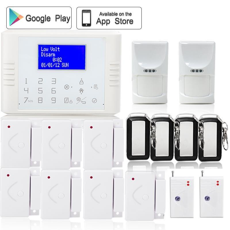 433 Wireless PSTN GSM Alarm System Home Burglar Security Touch Keyboard Alarm pet friendly wireless home alarm PIR free shipping dog fence wireless containment system pet wire free fencing kd661