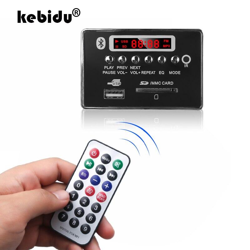 Nachdenklich Kebidu Mp3 Decoder Board 5/12 V 75*50mm Bunte Led Bildschirm Unterstützung Aux Tf Karte Usb Bluetooth Modul Mit Fernbedienung Tragbares Audio & Video
