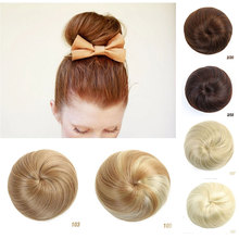 HiDoLA Synthetic Hair Chignon Bun Ring Donut Extensions diy Maker Braid Styling Hairpieces headwear
