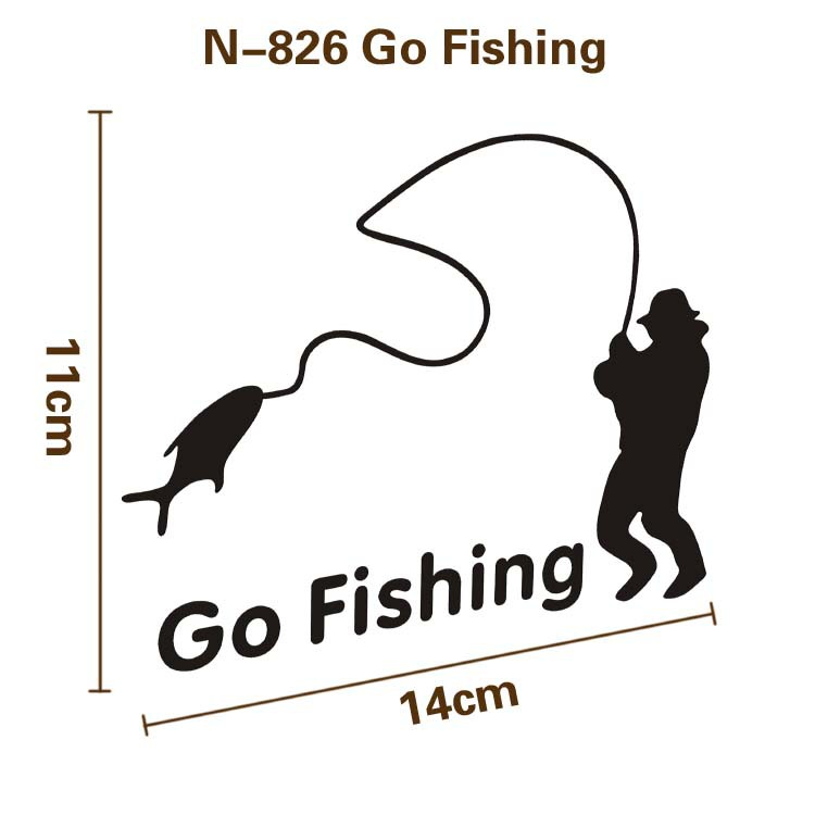 GO FISHING PVC sticker on car for fishing lure tackle fishing reels brand new famous top quality wobble for cars женские часы go girl only go 694925