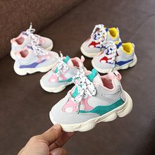 New Children Shoes For Girls Boys Sneakers Kids Air Mesh Breathable Sport Shoe Baby Toddler Outdoor Sneakers 15-19(China)