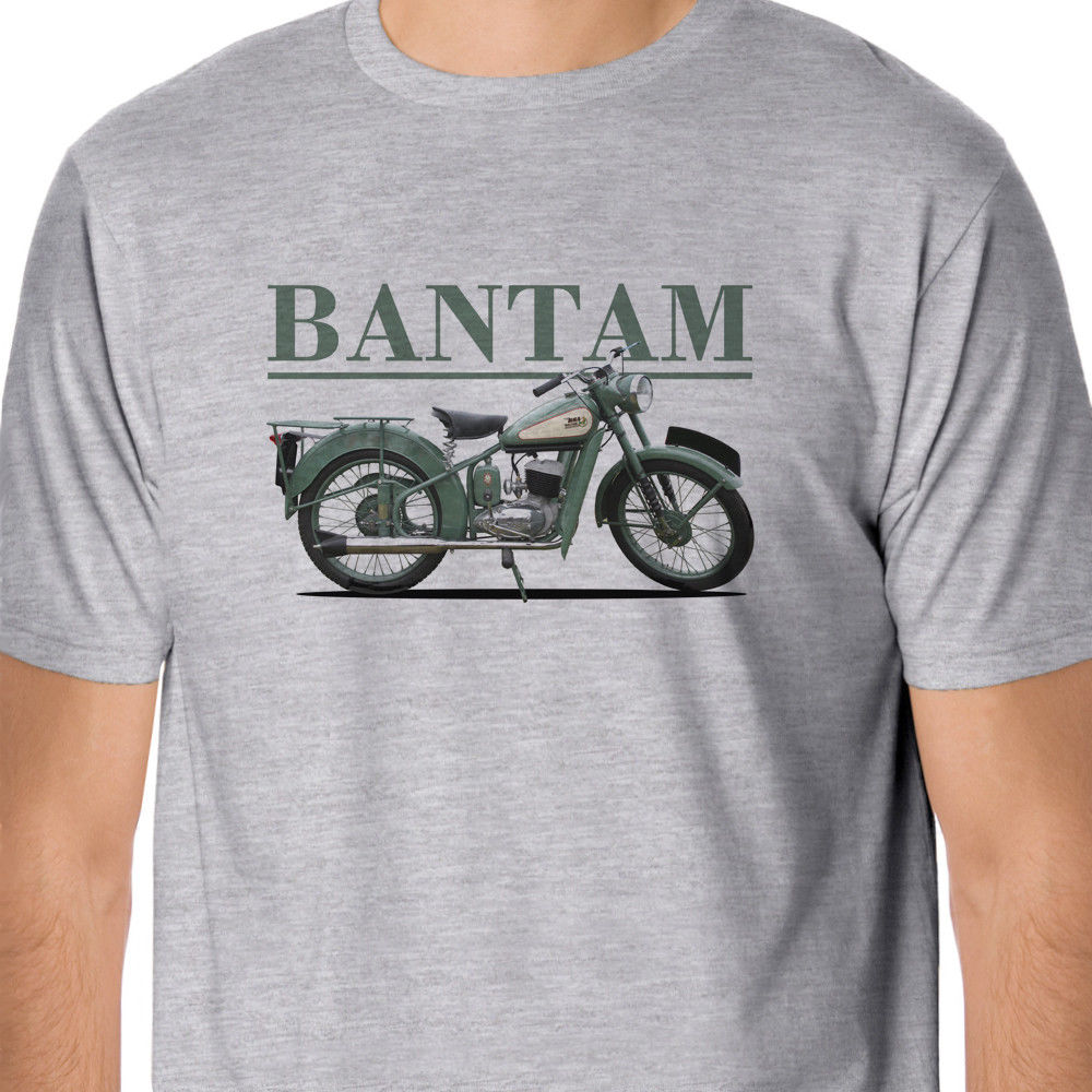 Retro Bikes - Classic <font><b>BSA</b></font> Bantam Inspired T-Shirt2018 New Summer Men 100% Cotton T <font><b>Shirt</b></font> Short Sleeve Tee <font><b>Shirts</b></font> image