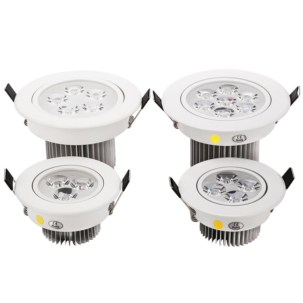 4 db 3W 4W 5W 7W mennyezeti mennyezeti mélyvilágítás - Beltéri világítás