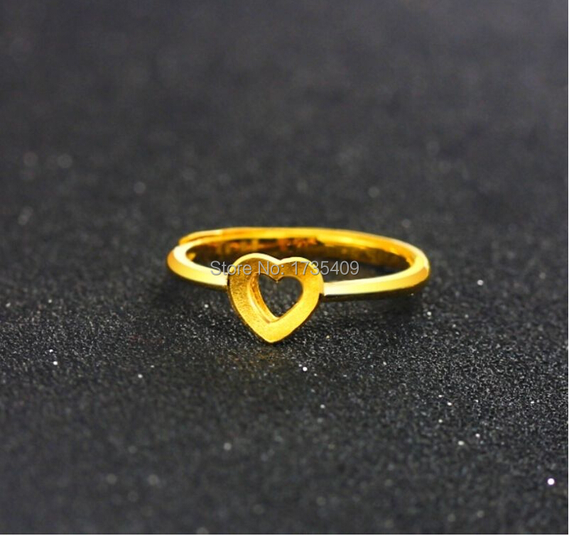 Pure 999 Solid 24K Yellow Gold Ring /Craved Heart Ring/ USA Size:4-10/2.89GPure 999 Solid 24K Yellow Gold Ring /Craved Heart Ring/ USA Size:4-10/2.89G