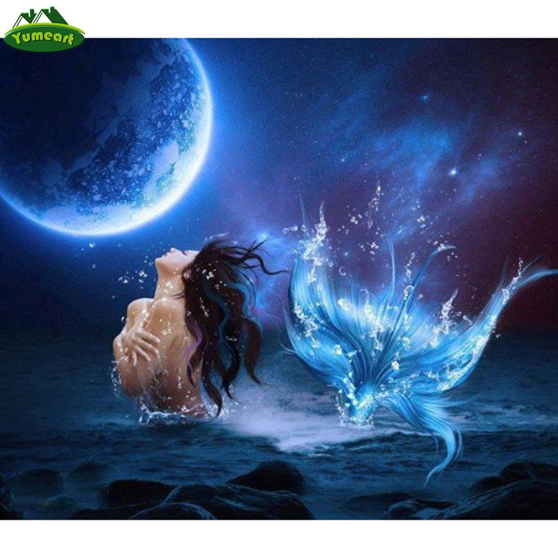 Diamond Mermaid Painting