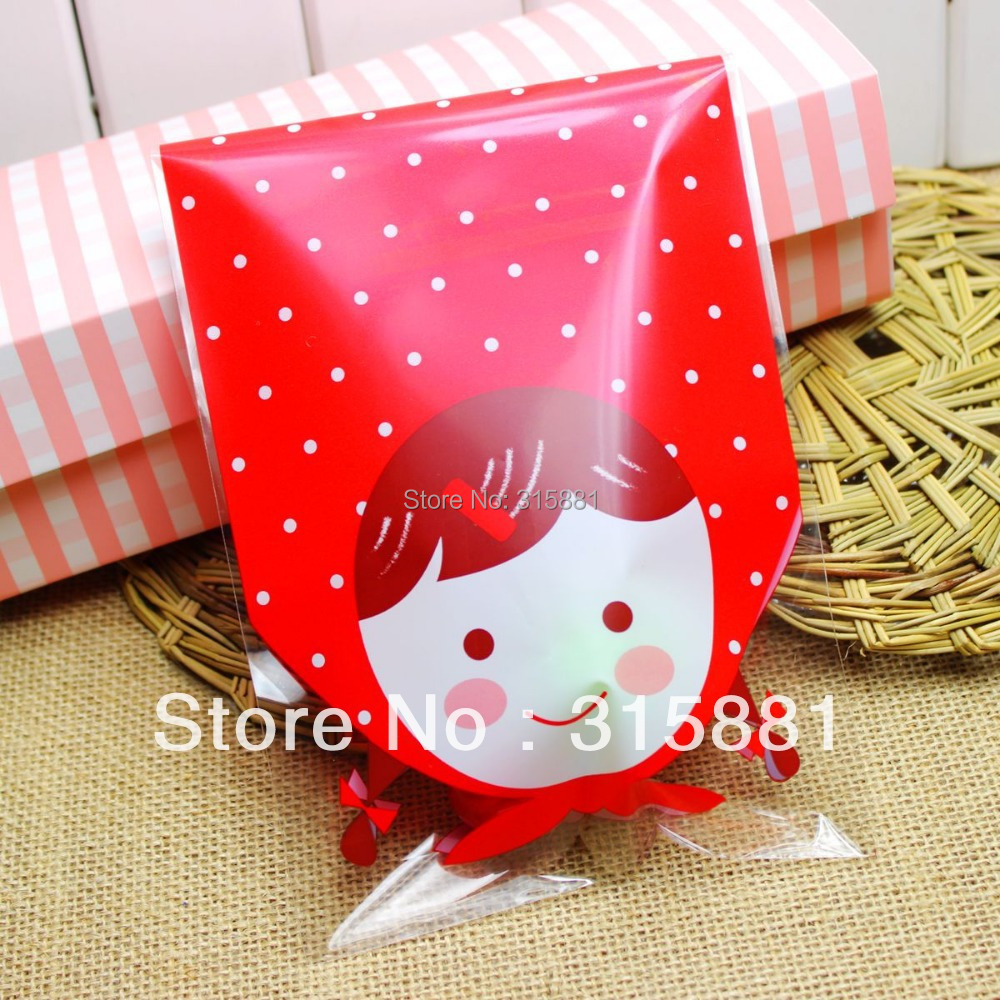 Red girl open top bag, jewelry packaging bag , gift wrapping, party ...