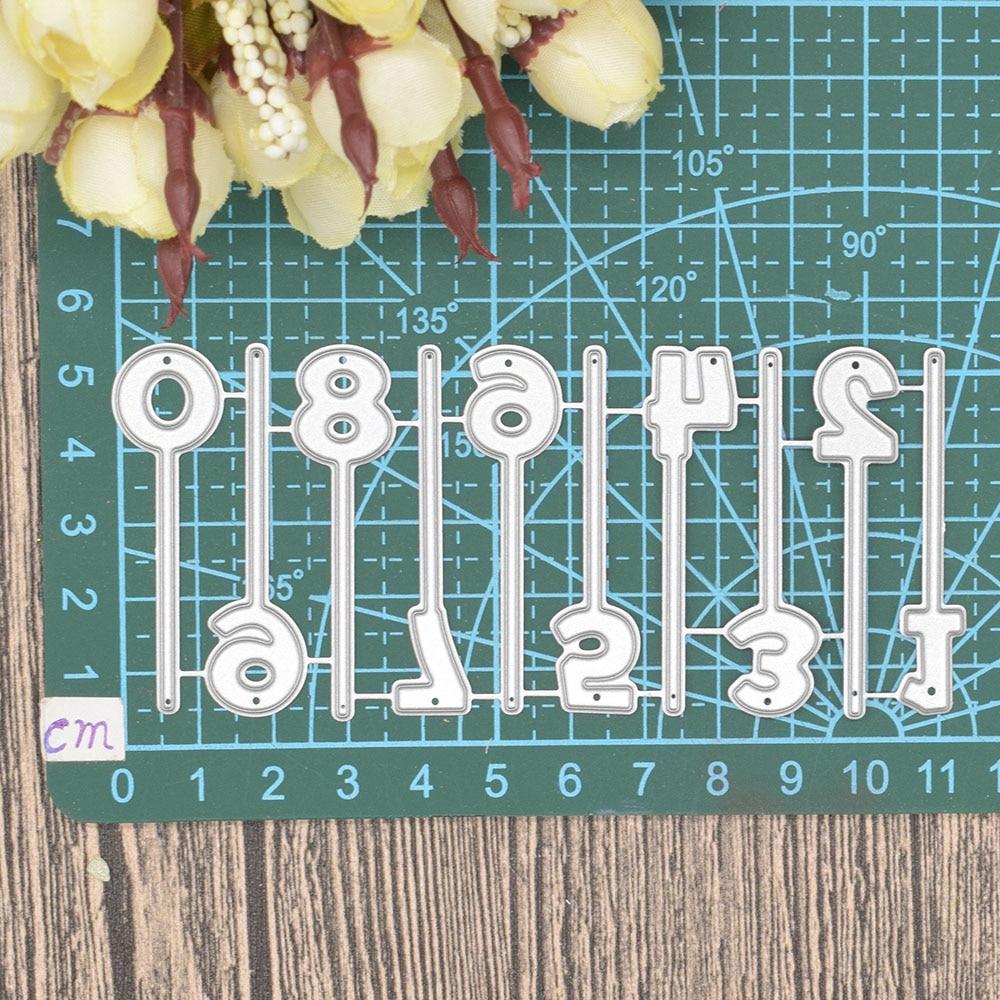 0 to 9 Numbers Digital Metal Cutting Dies Words for Scrapbooking Album Birthday Anniversary Card Making Paper Embossing Die Cuts in Cutting Dies from Home Garden
