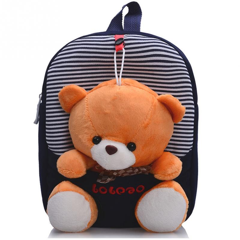 2017 children school bags backpack kindergarten girls boys kid backpack cute cartoon toys bear ribbons bow - Cartoon For Toddlers Free Online