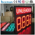leeman Factory supply white/red/green/blue color 8.88 9/10 4 digits format gas price led display