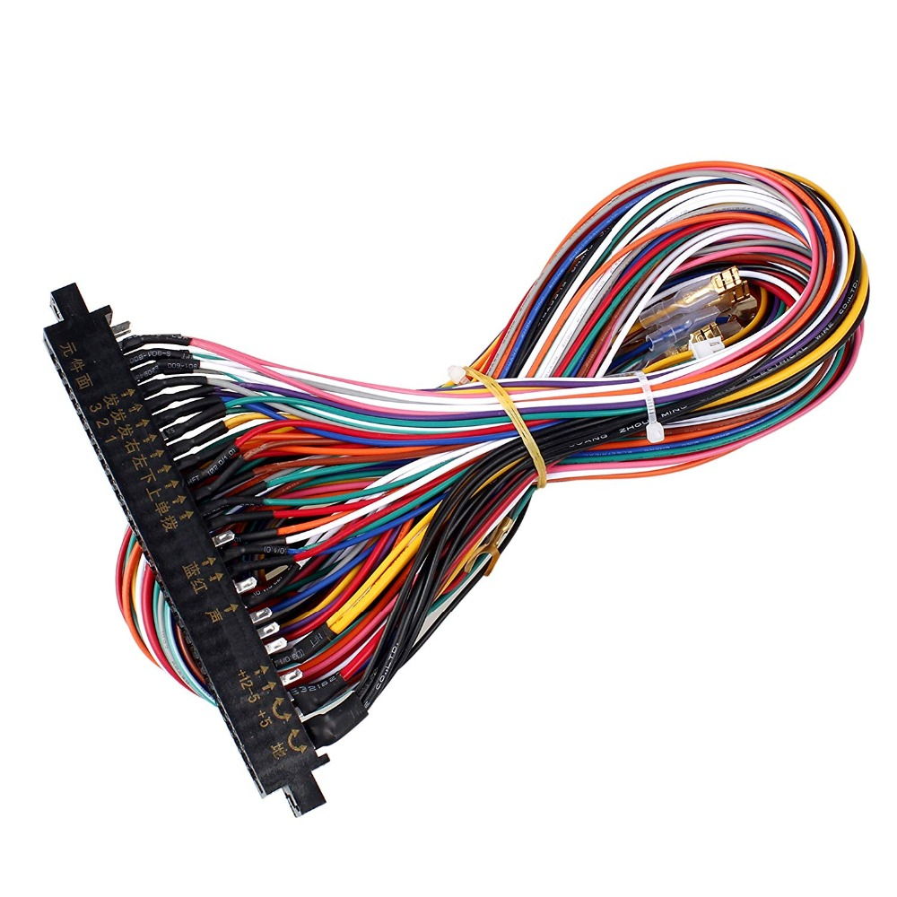 new jamma 56 pin interface cabinet wire wiring harness board cable for arcade machine video game consoles pandora box 2 3 4 game [ 1000 x 1000 Pixel ]