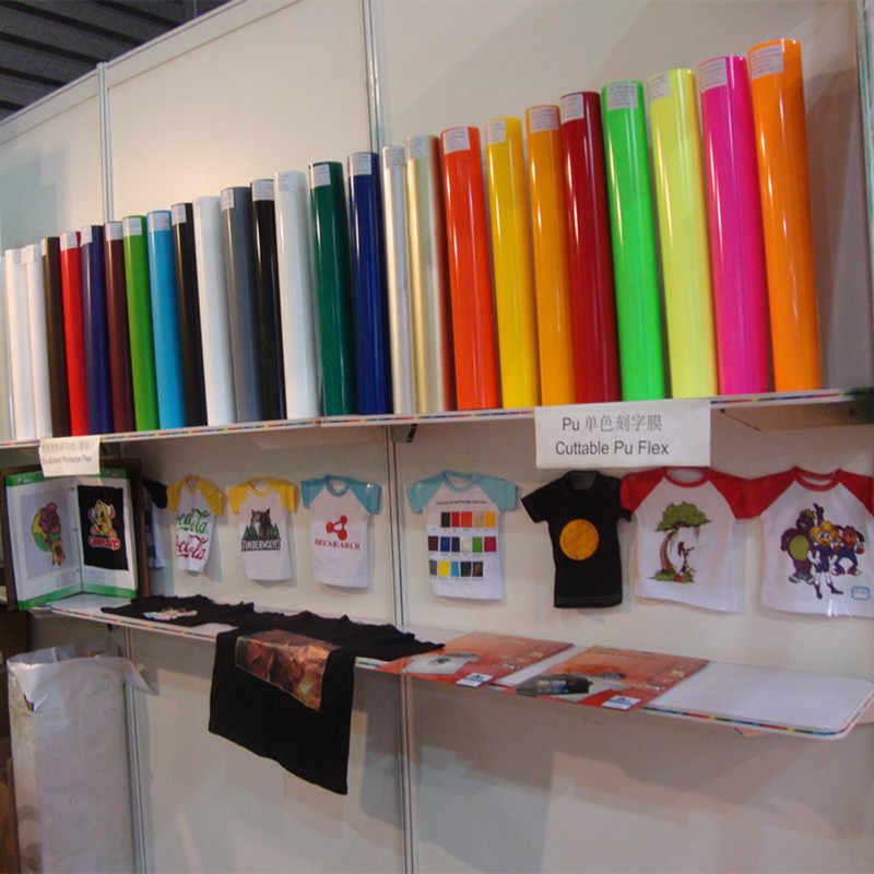 0.5x 1 m/roll 15 Diffirent DELL'UNITÀ di elaborazione di colore della Pellicola Del Vinile per T-shirt di Alta Qualità di Trasferimento di Calore Del Vinile Per vestiti di Ferro su Vinile