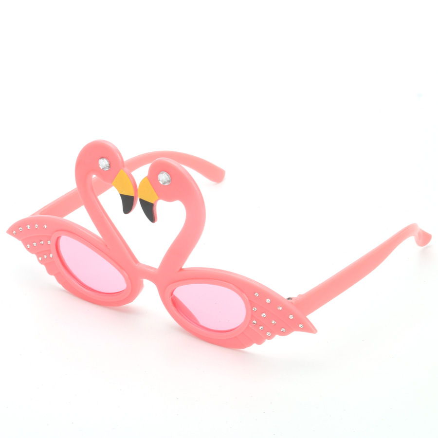 MagiDeal Occhiali Da Sole Fenicottero Hawaiano Party Glasses + Tropical Flamingo Confetti Di5KAWMmw