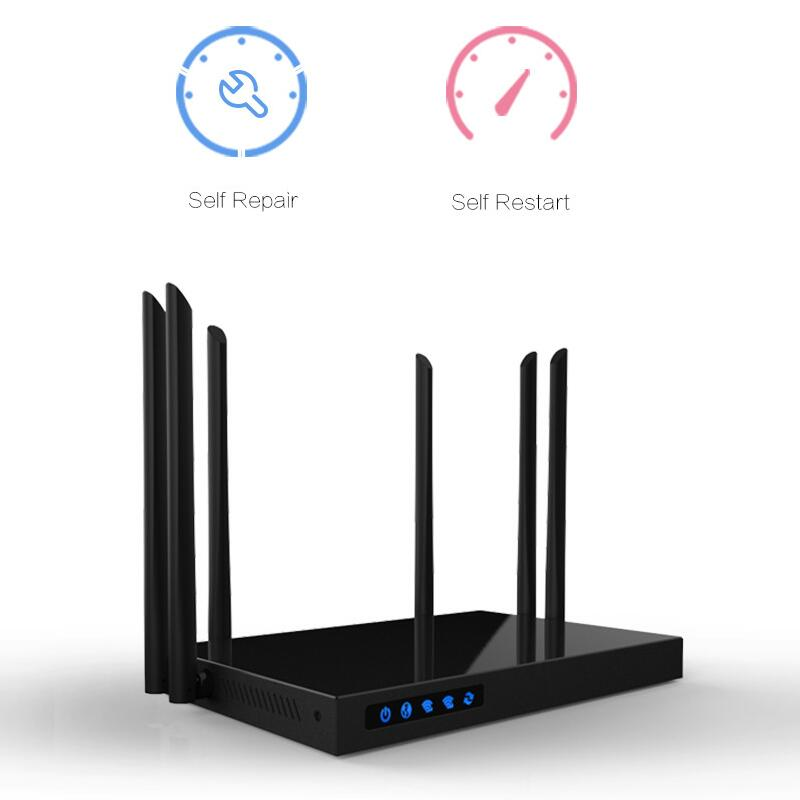 Comfast 1750Mbps WIFI Router 2.4G+5.8G AC Manage router 1Wan 4Lan 802.11ac access point wi fi router for big area wifi coverage comfast full gigabit core gateway ac gateway controller mt7621 wifi project manager with 4 1000mbps wan lan port 880mhz cf ac200