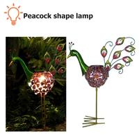 Solar Led Peafowl Light Warm White Outdoor Retro Garden Lawn Landscape Lamp Decoration Lamp Solar Garden Light
