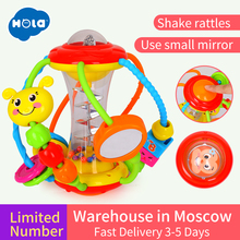 Купить с кэшбэком New Huile Toys 929 Colorful Baby Toys Ball Baby Rattles Educational Toys for Babies Grasping Ball Puzzle Multifunction Bell Ball