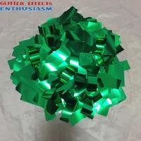 2x5 cm green color metalic aluminum color confetti metal foil paper for confetti machine