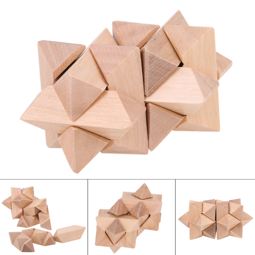Wooden 3D Handmade Vintage Kongming Locks Luban Lock Blocks Wooden font b Toy b font Adults