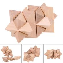 Wooden 3D Handmade Vintage Locks Luban Lock Blocks Wooden Toy Adults Block Intellectual Education Development Funny
